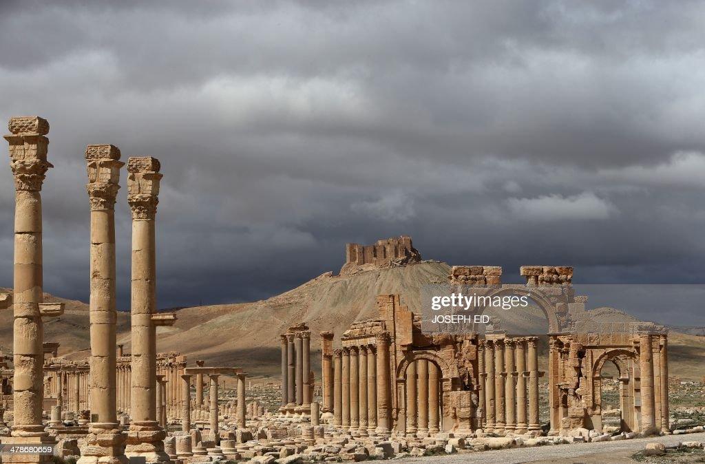 SYRIA-CONFLICT-ARCHAEOLOGY-PALMYRA : News Photo