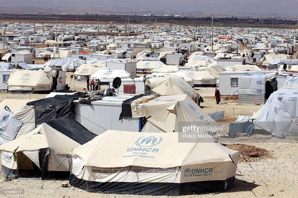 JORDAN-SYRIA-CONFLICT-REFUGEE : News Photo
