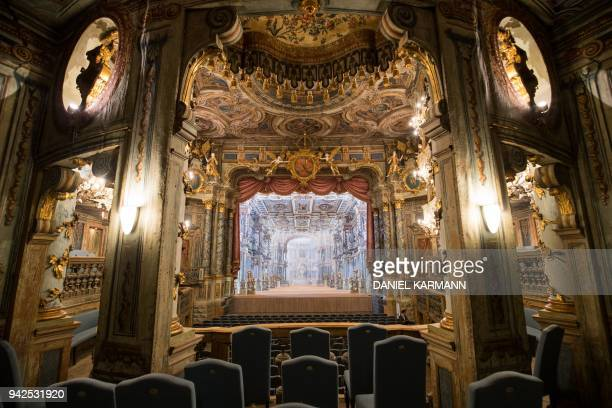 TOPSHOT A picture taken on March 16 2018 shows a view of the Margravial Opera House in Bayreuth which is expected to reopen on April 12 2018 after 6...