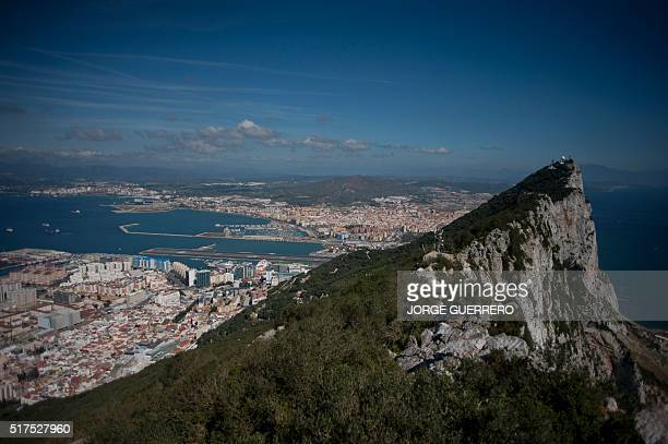 A picture taken on March 17 2016 shows the Rock of Gibraltar with Spain in background A British vote to leave the European Union would be a...
