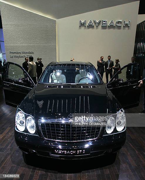 Picture taken on March 2 2005 shows a Maybach 57 S car at its world premiere at the 75th Geneva Motor Show in Geneve Switzerland German carmaker...