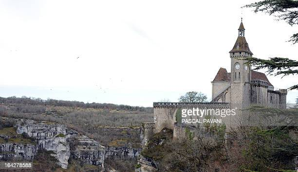 Picture taken on March 21, 2013 shows the castle of Rocamadour, the town which is a Unesco World Heritage site since 1979, in southwestern France....