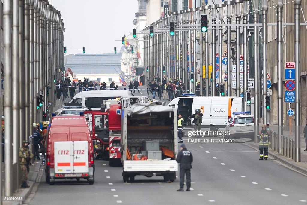 BELGIUM-UNREST-BLAST : News Photo