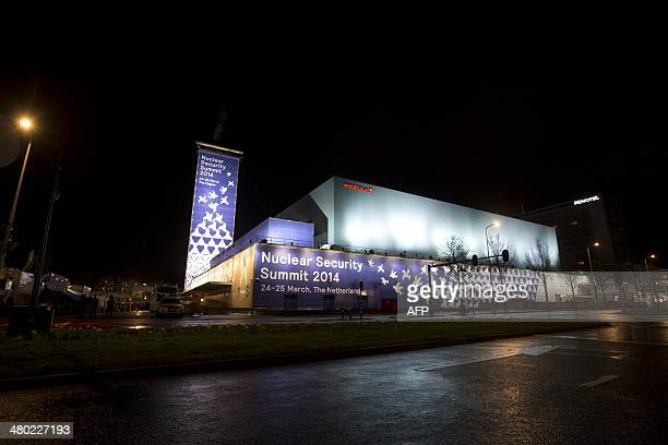 Picture taken on March 23, 2014 shows the World Forum in The Hague, on the eve of the start of the Nuclear Security Summit . World leaders gather in...