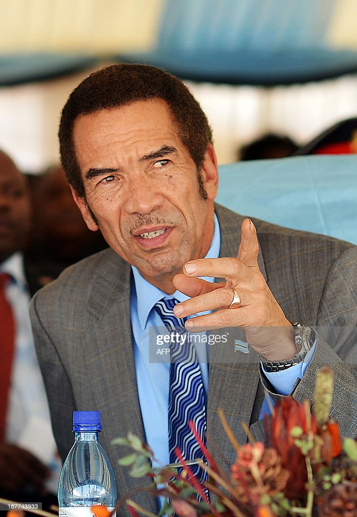 BOTSWANA-POLITICS-ANIMAL-KHAMA : News Photo