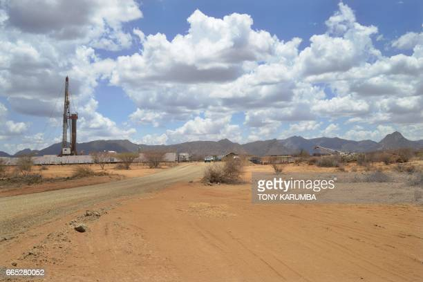 A picture taken on March 26 shows an oil drilling block managed by British company Tullow Oil at Lokichar basin in Turkana county In just a few years...