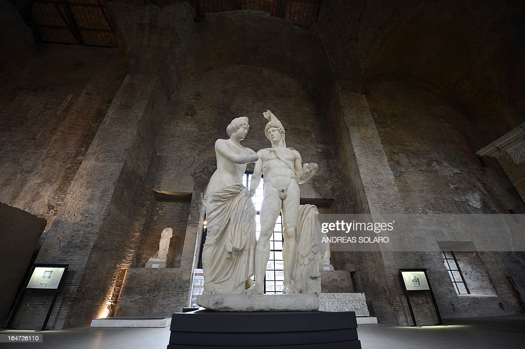 A picture taken on March 27, 2013 at the Museo nazionale ...