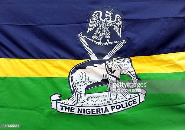 A picture taken on March 28 2012 shows Nigeria's police logo The Nigeria Police Force which is as old as its colonial past came into being on April 1...