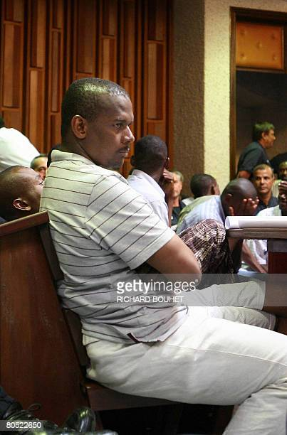 A picture taken on March 29 2008 shows ousted leader of the Comoros island of Anjouan Mohamed Bacar sitting in a room of the Courthouse in Saint...