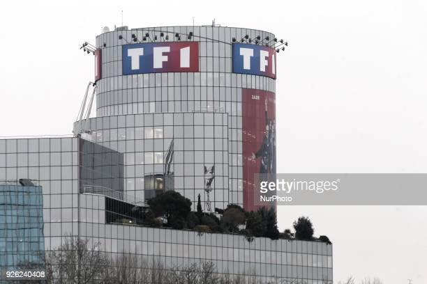 A picture taken on March 2nd 2018 in BoulogneBillancourt a neighbouring suburb of Paris shows a view of TF1 French TV group headquarters TF1 also...