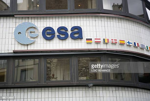 A picture taken on March 30 2010 in Paris shows the facade of the European Space Agency headquarters AFP PHOTO LOIC VENANCE