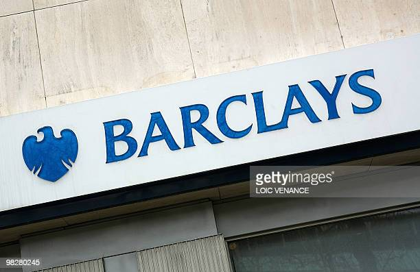 A picture taken on March 30 2010 shows the logo of British Bank Barclays AFP PHOTO LOIC VENANCE