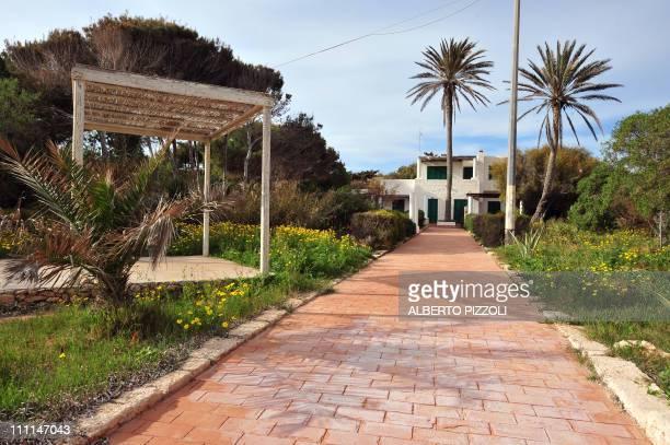 Picture taken on March 30 2011 of the Villa Due Palme in the Italian southern island of Lampedusa Italian Prime Minister Silvio Berlusconi announced...