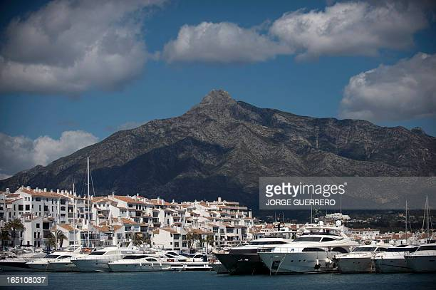 A picture taken on March 30 2013 shows Puerto Banus near Marbella AFP PHOTO / JORGE GUERRERO