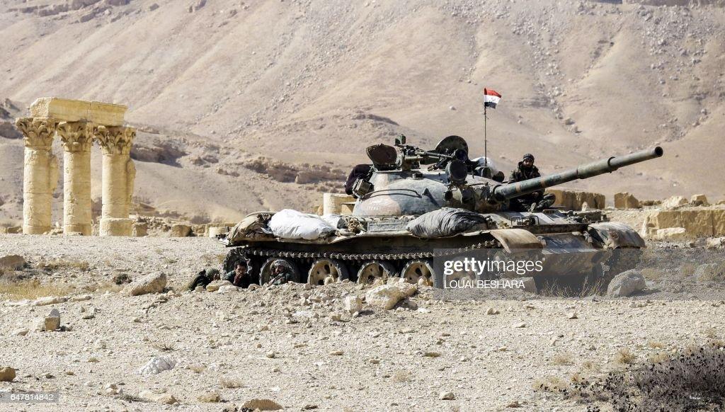 TOPSHOT-SYRIA-CONFLICT-PALMYRA : News Photo
