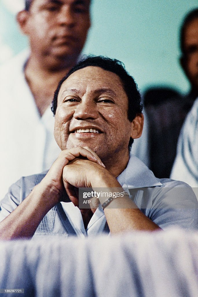 Picture taken on March 7, 1988 of Panama's general Manuel Antonio Noriega attending an anti-US meeting in Panama city. Former Panamanian dictator Manuel Noriega arrived in Paris on April 27, 2010 after the United States extradited him to face trial in France on charges of laundering drug money.