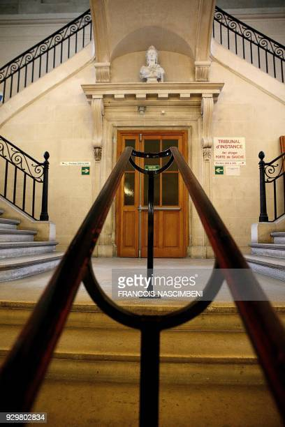 Picture taken on March 9 shows stairs at the Tribunal de grande instance of Reims / AFP PHOTO / FRANCOIS NASCIMBENI