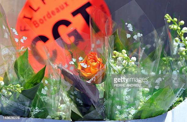 A picture taken on May 1 2012 shows lily valley as part of the annual May Day workers' events in Bordeaux southwestern France Both candidates for the...