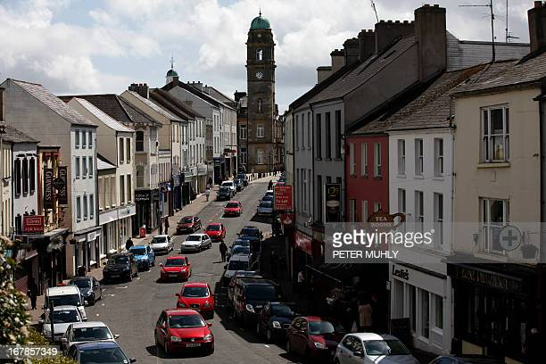 A picture taken on May 1 2013 shows a general view of the high street in Enniskillen County Fermanagh Northern Ireland near the venue for the Group...