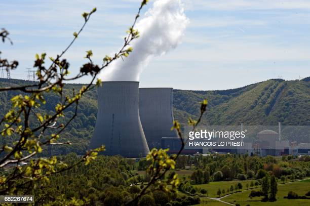 A picture taken on May 10 2017 shows the nuclear power plant in Chooz northern France The dismantling of the underground nuclear power reactor at...