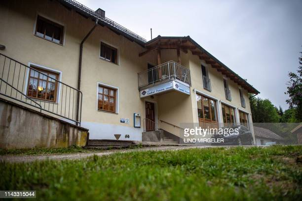 Picture taken on May 11 2019 shows a hotel on the banks of the river Ilz in Passau southern Germany German police were investigating on May 12 2019...