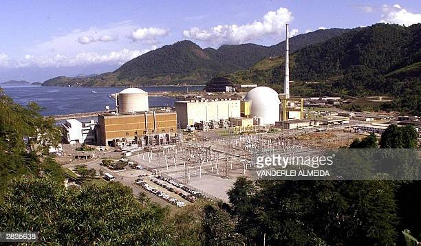 Picture taken on May 12 2000 of the nuclear power station Angra 1 and Angra 2 in Angra dos Reis 150km at the south of Rio de Janeiro Brazil The...