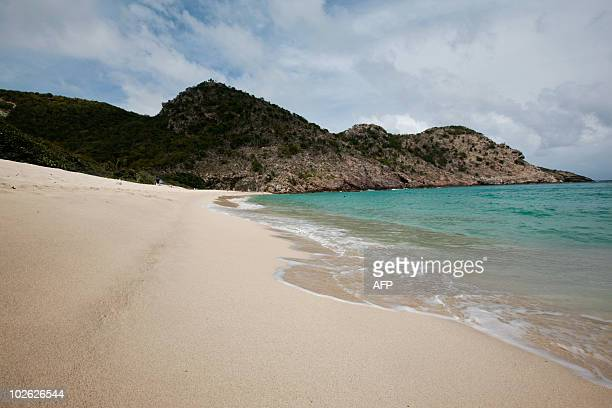 A picture taken on May 13 2010 shows Governor's beach on the island of SaintBarthelemy French West Indies Chelsea football club's owner Russian...