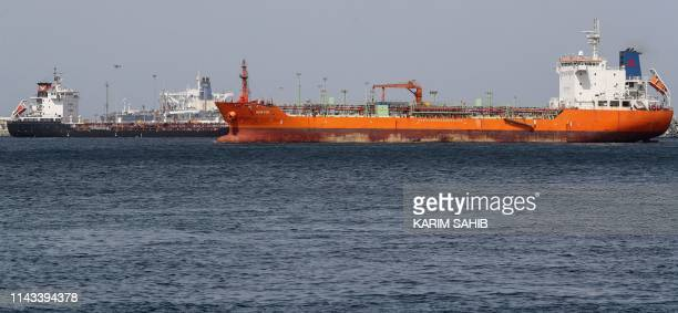 A picture taken on May 13 shows a view of the port of Fujairah in the Gulf Emirate