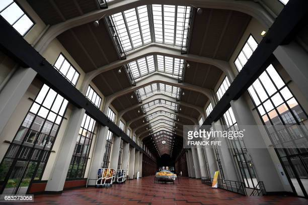 A picture taken on May 15 shows a part of Cite du Cinema in SaintDenis where the Olympic Village is planned to be installed as the IOC Evaluation...