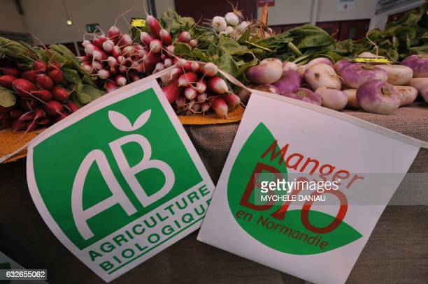 Picture taken on May 16 2008 shows vegetables biofarms at the organic food market in Caen northern France AFP PHOTOMYCHELE DANIAU / AFP / MYCHELE...