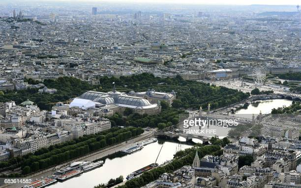 TOPSHOT A picture taken on May 16 2017 shows the Grand Palais in Paris the proposed venue for the 2024 Olympic Games taekwondo and fencing events for...