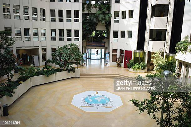 BRUMONT Picture taken on May 17 2010 at Interpol headquarters in Lyon eastern France shows Interpol�s lobby The world's largest international police...