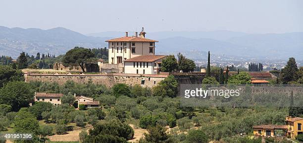 A picture taken on May 18 25014 in Florence shows the Forte Belvedere where the Hip hop star Kanye West and reality TV celebrity Kim Kardashian...