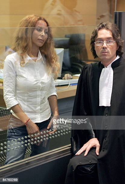 A picture taken on May 22 2007 at the courthouse in Nice shows Jamila M'Barek accused of murdering an English Lord to get their hand on his fortune...