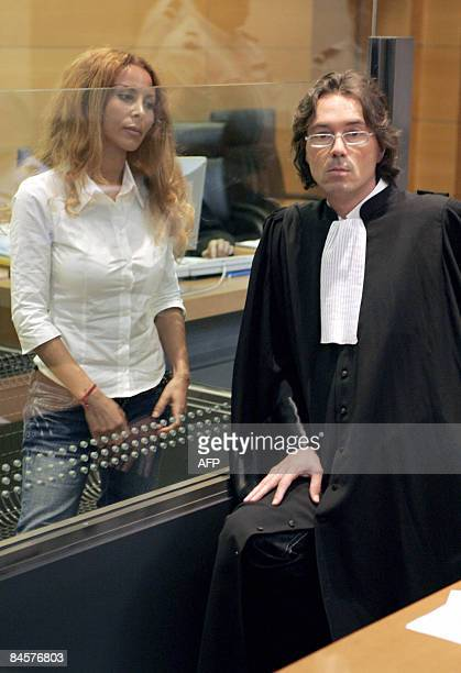 A picture taken on May 22 2007 at the Nice's courthouse shows Jamila M'Barek accused of murdering an English Lord to get their hand on his fortune...
