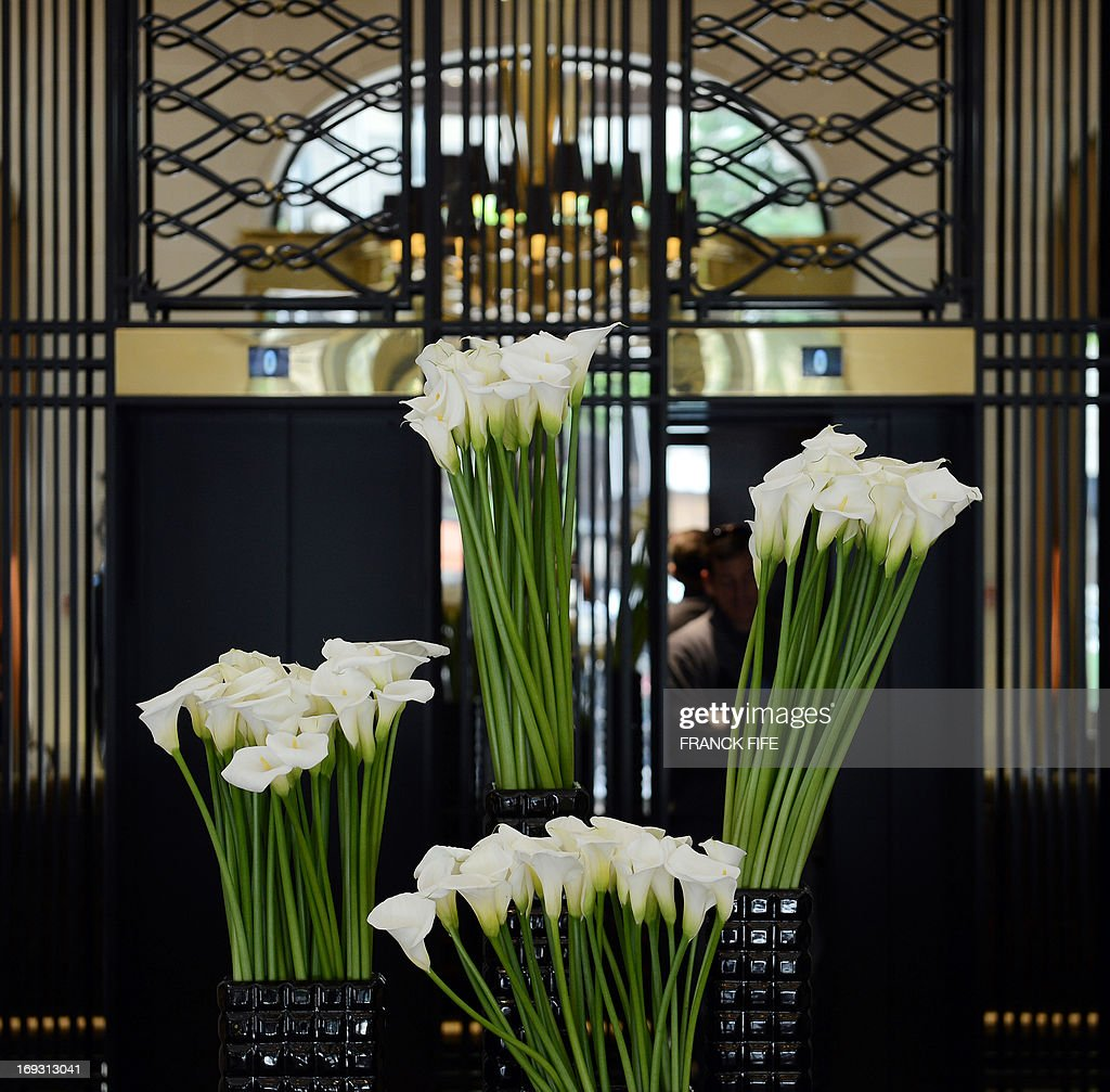 A Picture Taken On May 22 Shows Flowers In The Luxury Hotel Prince