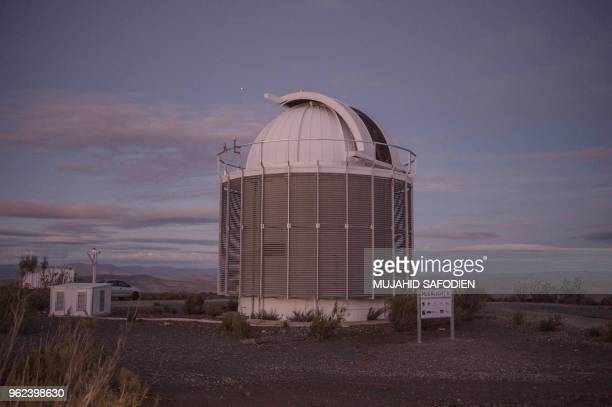 A picture taken on May 25 2018 shows the new telescope MeerLICHT at the South African Astronomical Observatory near Sutherland MeerLICHT meaning...