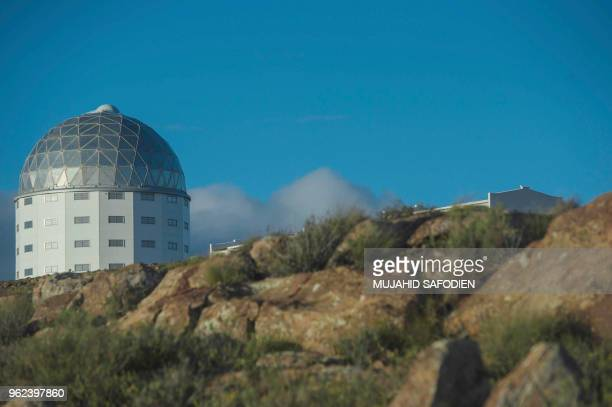 A picture taken on May 25 2018 shows the Southern African Large Telescope at the South African Astronomical Observatory near Sutherland where a new...
