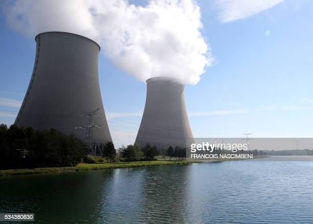 A picture taken on May 26 2016 shows a general view of nuclear power plant of NogentsurSeine Workers at nuclear power stations in France were set to...