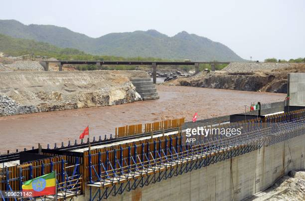 Picture taken on May 28, 2013 shows the Blue Nile in Guba, Ethiopia, during its diversion ceremony. Ethiopia has begun diverting the Blue Nile as...