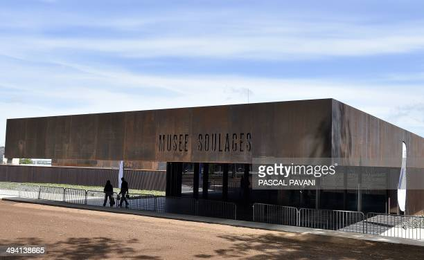 A picture taken on May 28 2014 in the French southwestern city of Rodez shows the museum of the « Outrenoir » master Pierre Soulages The exhibition...