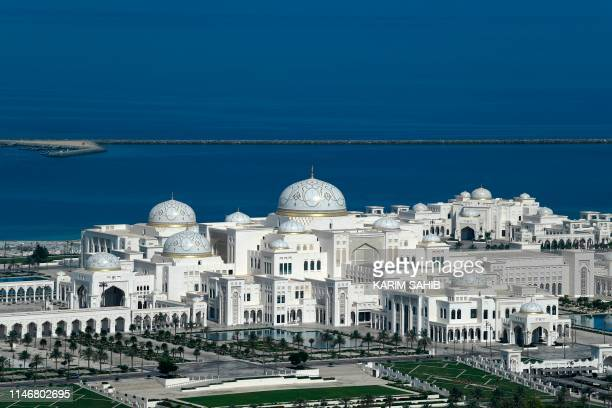 Picture taken on May 29 shows a general view of Abu Dhabi's Presidential Palace.