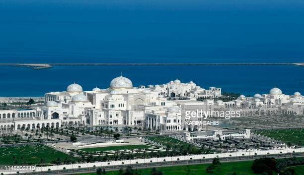 A picture taken on May 29 shows a general view of Abu Dhabi's Presidential Palace