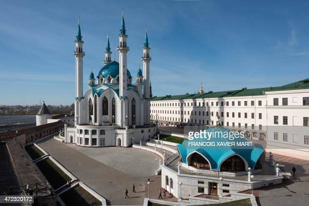 A picture taken on May 5 2015 shows the Kul Sharif Mosque in the Russian city of Kazan The Kazan Kremlin is a historic and architectural complex...
