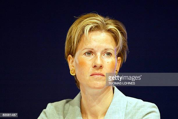 FILES A picture taken on May 6 2003 in Frankfurt/M western Germany shows Susanne Klatten major shareholder in German luxury carmaker BMW and...