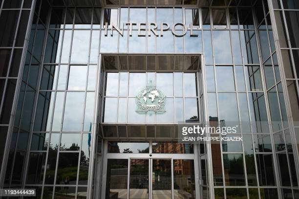 Picture taken on May 6 2010 shows the entrance of the world largest international police organization Interpol headquarters in Lyon eastern France...