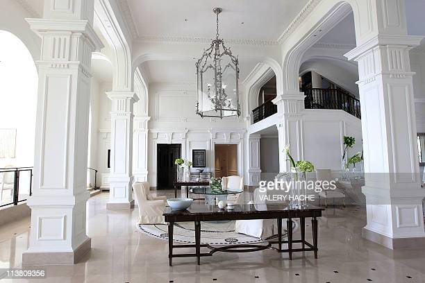 """Picture taken on May 6, 2011 shows the hall of the luxury hotel """"Grand Hotel du Cap-Ferrat"""" in Saint-Jean-Cap-Ferrat, southeastern France. This hotel..."""