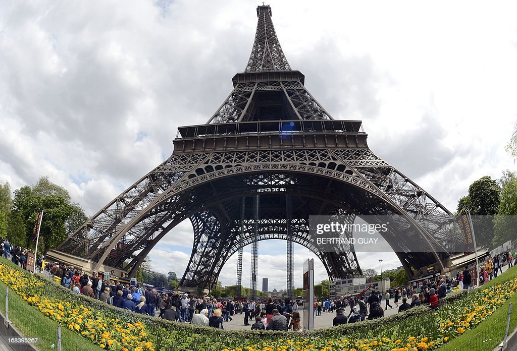 A picture taken on May 9, 2013 in Paris shows the Eiffel Tower site.