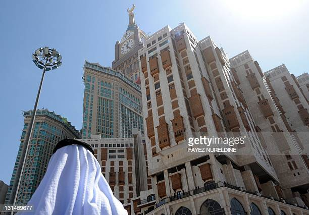 A picture taken on November 02 2011 shows the Abraj AlBait Towers also known as the Mecca Royal Hotel Clock Tower in the holy city of Mecca where...