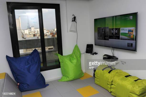 "Picture taken on November 10, 2011 in Paris shows the children's place of the ""Room of the future"" concept room presented by French hotel group Accor..."